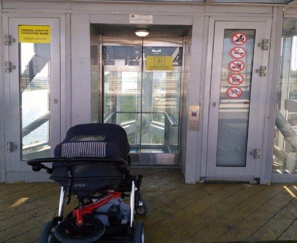 В Ростове на Ворошиловском мосту лифты опять не работают
