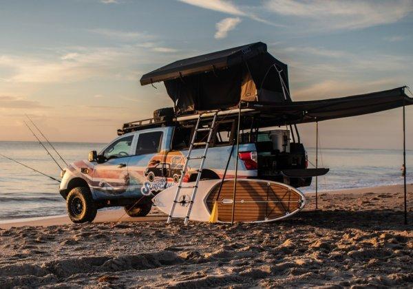 Nissan создал особый пикап Titan Surfcamp для серферов
