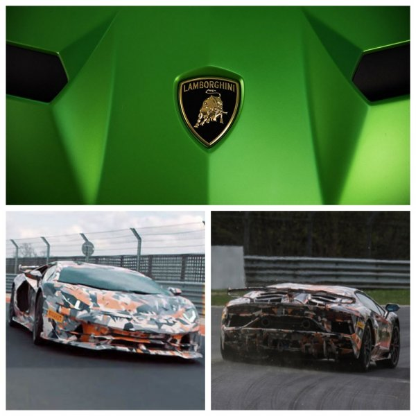 Lamborghini опубликовала тизер самой экстремальной версии Aventador SVJ