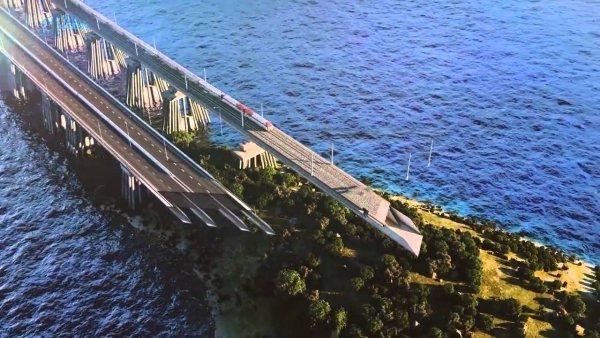 Железная дорога на Крымском мосту выдержит девяти бальные толчки