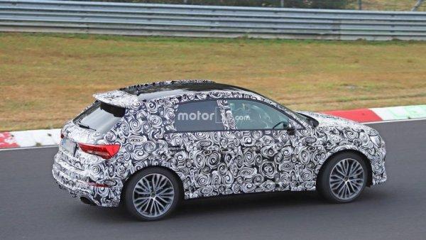 Кроссовер Audi RS Q3 показался на тестах в финальном виде