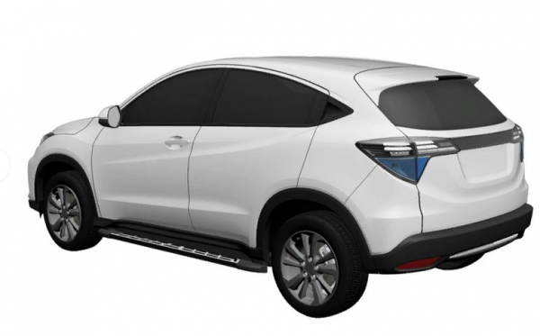Honda запатентовала новый кроссовер на шасси HR-V