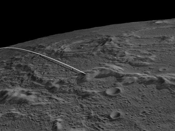 На луне найдены останки разбившегося космического корабля
