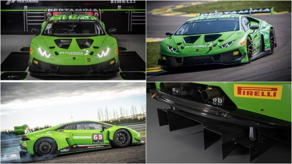 Обновлённый Lamborghini Huracan GT3 Evo похвастался улучшенной аэродинамикой