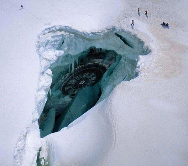 Россиянин обнаружил следы крушения НЛО в Антарктиде