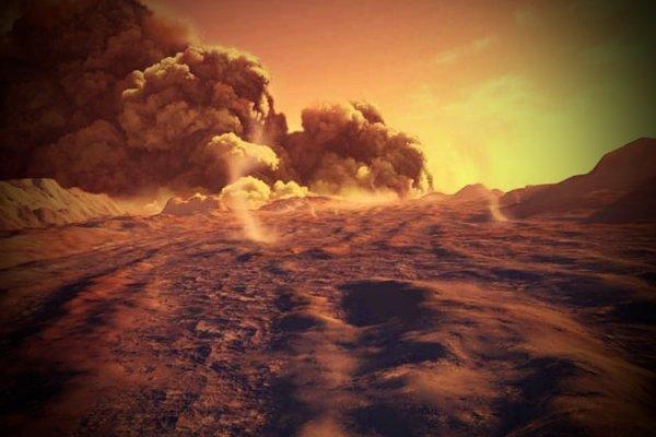 Следы «пылевых дьяволов» были зафиксированы на Марсе