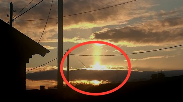 Порталы Нибиру? Россияне всё чаще замечают внеземные световые потоки пришельцев
