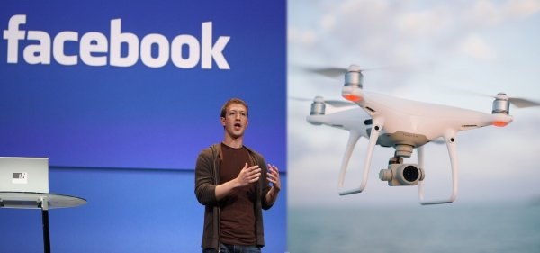Тотальный контроль властей: Facebook следит за пользователями с помощью тысяч дронов