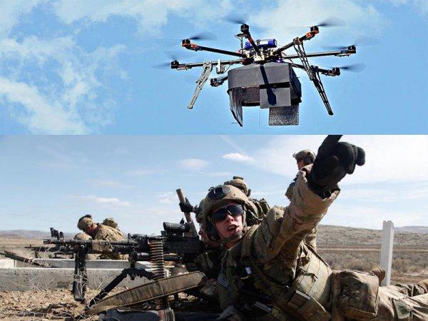 «Несут патроны наши дроны»: Беспилотники будут подносить боеприпасы солдатам США на поле боя