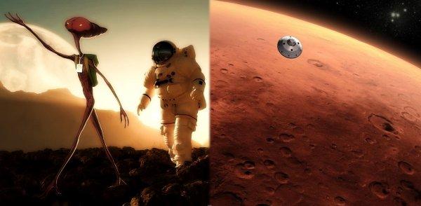 Промыли мозги: Марсиане потерпели крушение на Луне и заставили людей лететь на Марс