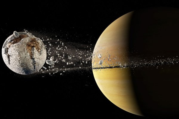 Сатурн потерял спутник. В 2019 году осколок врежется в Землю