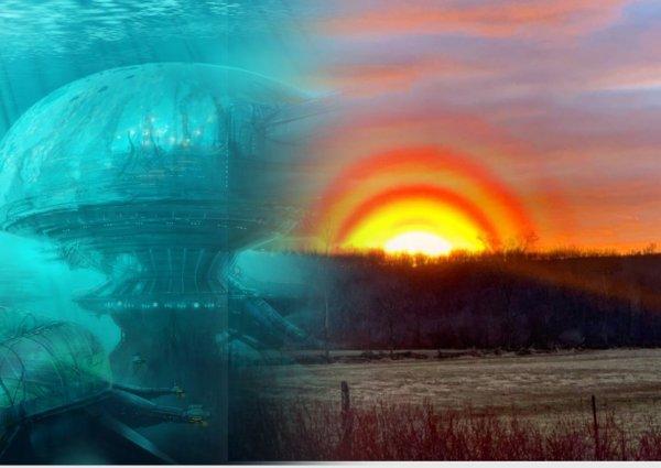 Подводная база пришельцев? След от огромного НЛО засняли над озером в Канаде
