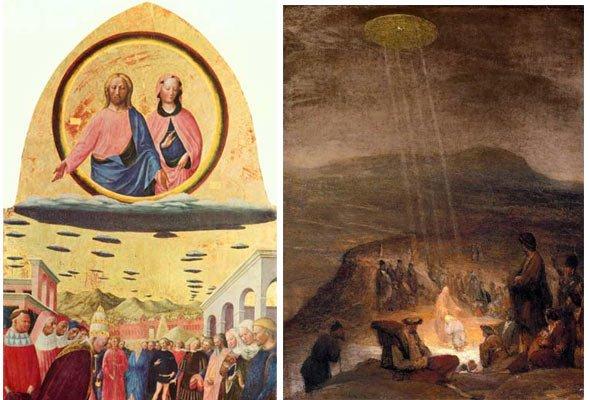 Иисус был пришельцем: Изображения НЛО найдены на христианских святынях