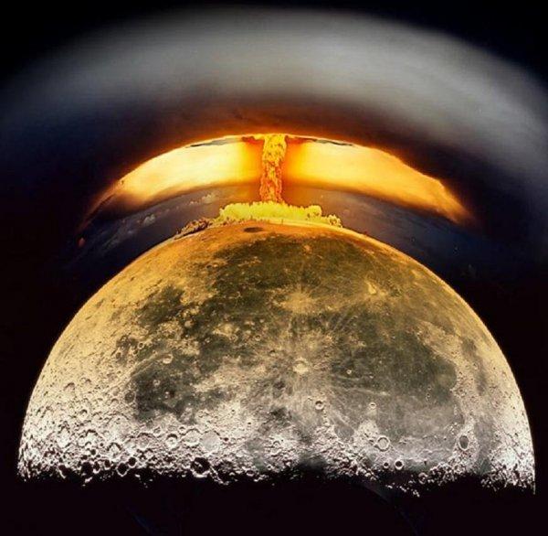 Уничтожают Луну? Ученые обнаружили «ядерный гриб» на спутнике