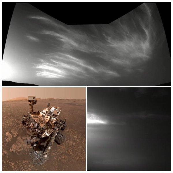 NASA опубликовала первые фото облаков на Марсе