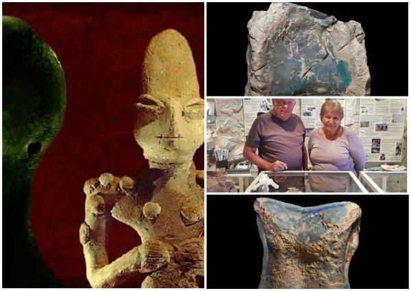 Древние рептилоиды? Шахтёр нашёл ископаемых пришельцев