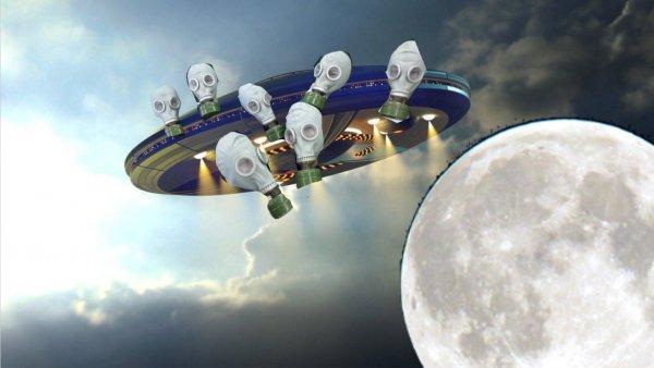 Нибиру засасывает Луну - Инопланетяне эвакуируются